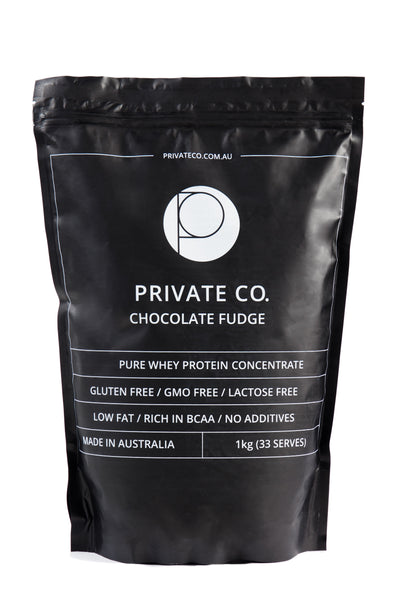 PRIVATE CO. CHOCOLATE FUDGE WHEY PROTEIN CONCENTRATE