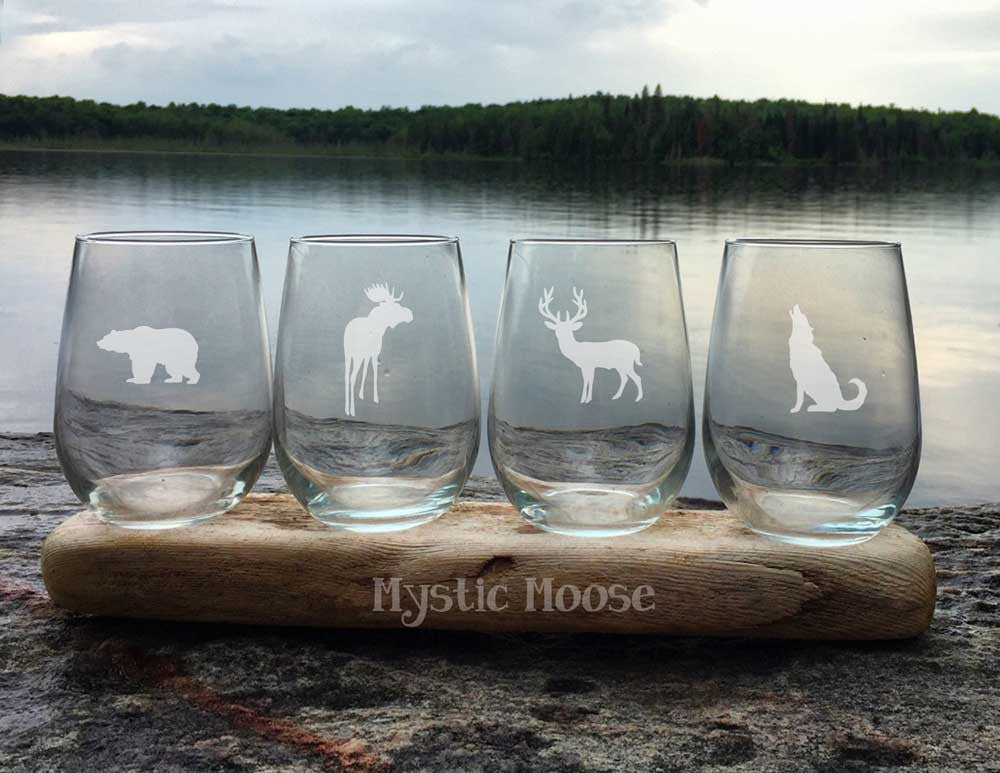 Custom Collection - 4 Stemless Moose