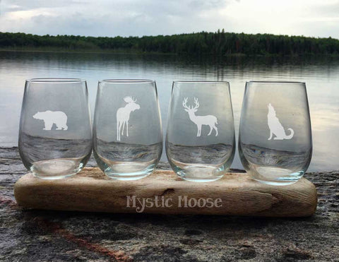 """Wild Life"" Collection - Stemless"