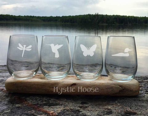 """Wings"" Collection  - Stemless"