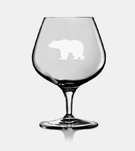 Crystal Brandy Snifter - Choose a Design