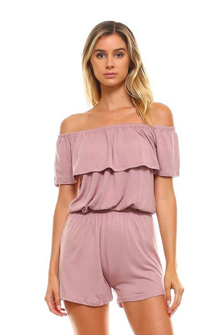 This romper will show off your beautiful shoulders and its stretch will keep you comfortable all night long.
