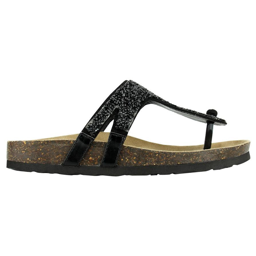 Not Rated black sparkle sandal.