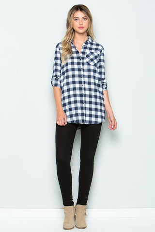Black Flannel Top