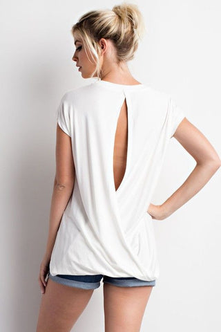 Blush Open Back Top