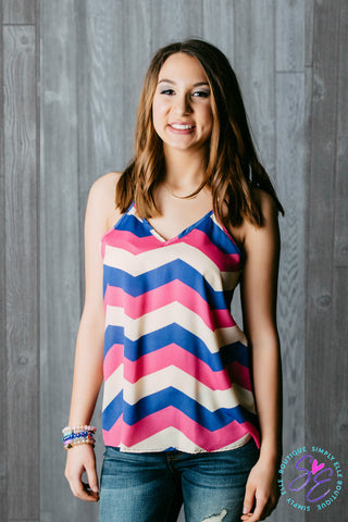 Summer chevron tank top.