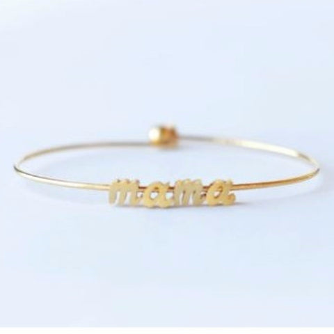 Brin and Bell Jewelry. Gold plated or silver rodium plated bracelet bangle bracelet comes with ball and hook closure on the back.