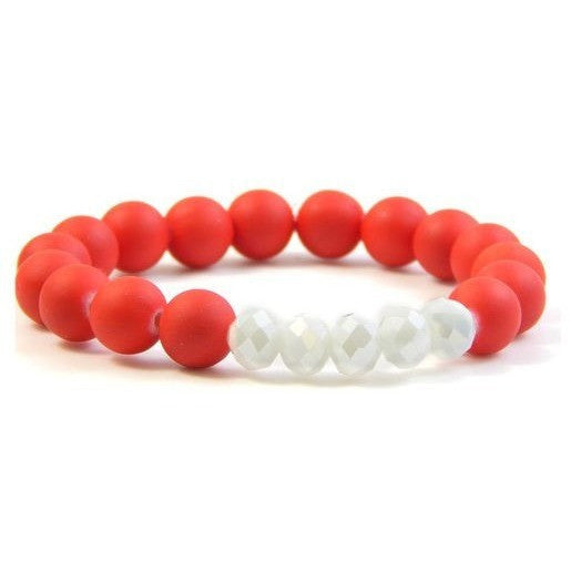 Red Erimish Bracelet. Support the Nebraska Corhuskers! Order the blue as well and support the Norris Titans!