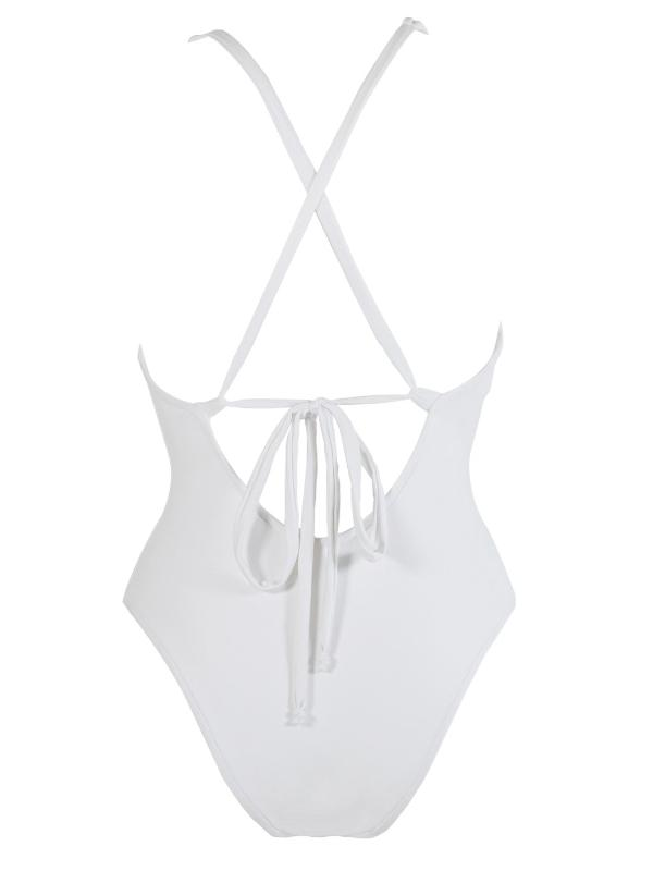 Basic white one piece - sport swimwear - watersport