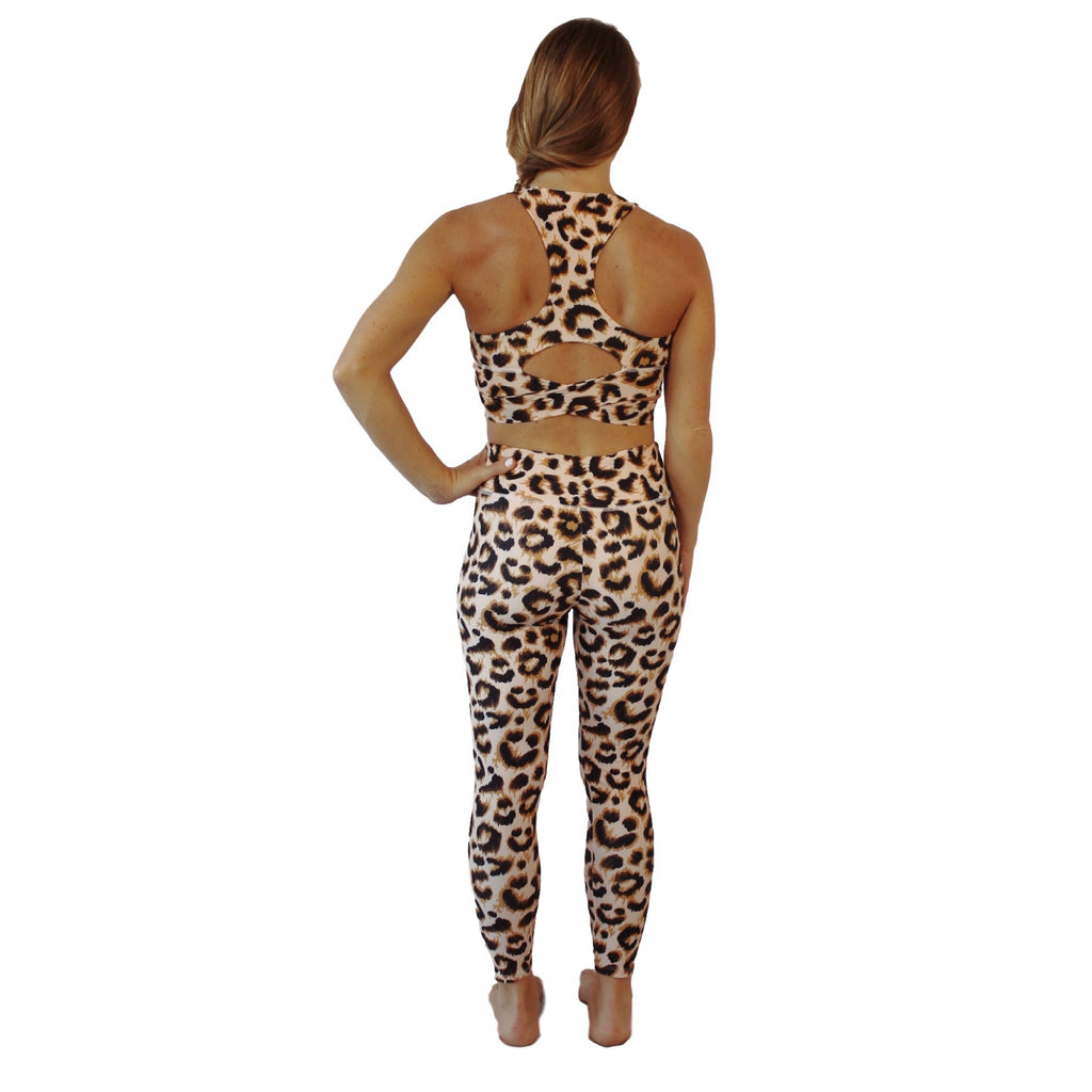 Leopard - Legging + bra woman