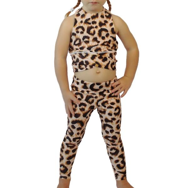 legging and sport bra leopard for girl / mommy and me leggings
