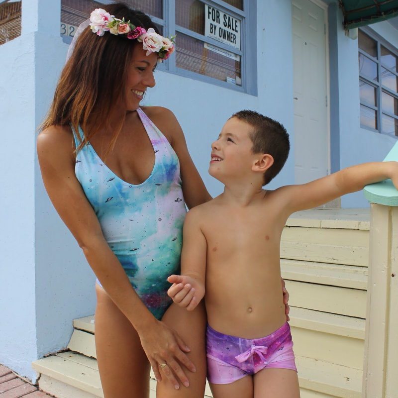 mommy and me unicorn swimsuits