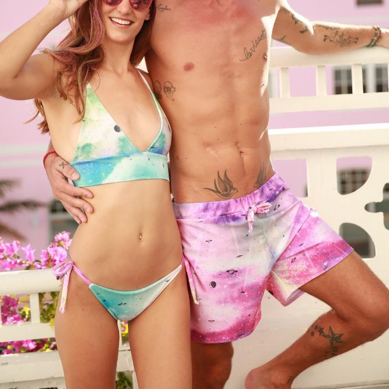 Unicorn - Couple Swimsuits - family swimwear