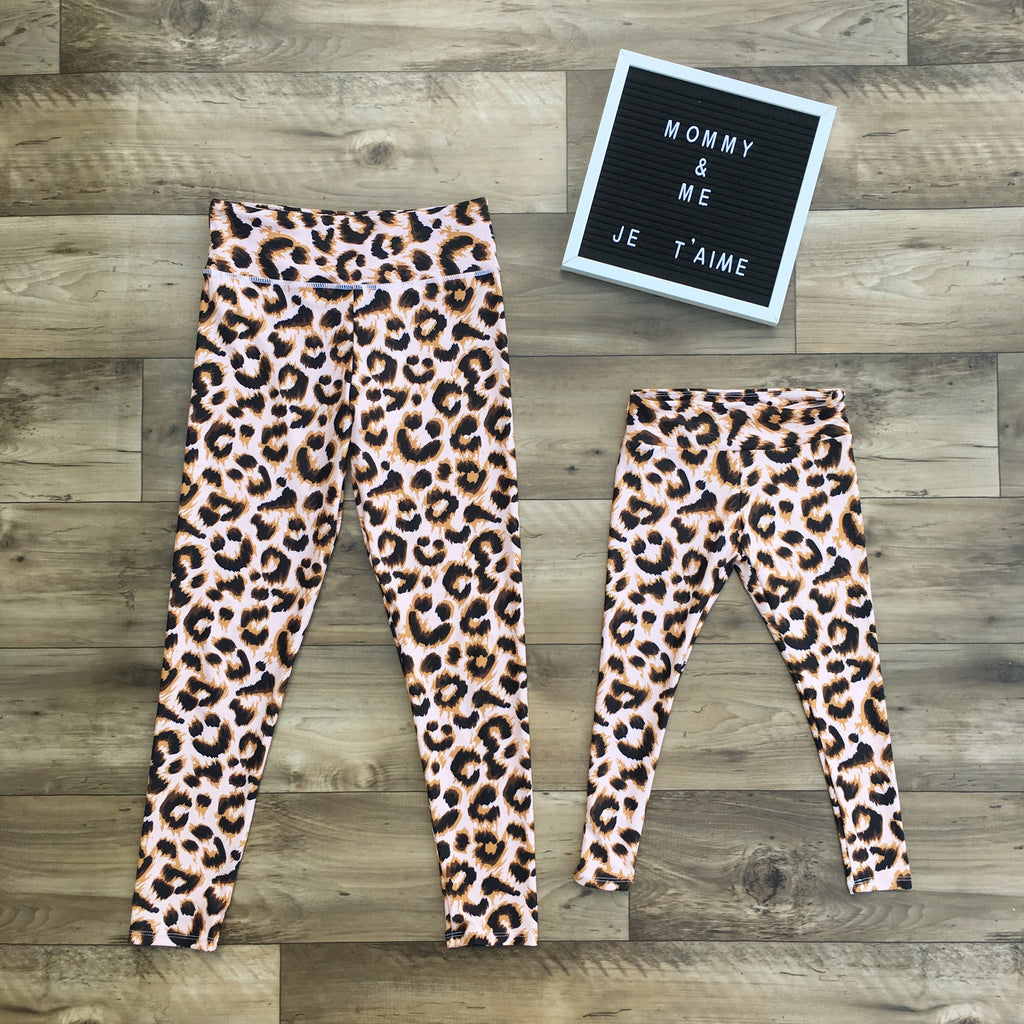 matching leggings leopard for mommy and me