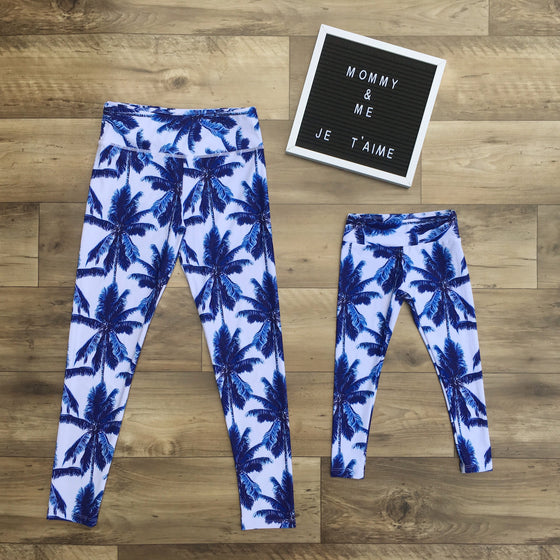 Palmtree leggings for mommy and me