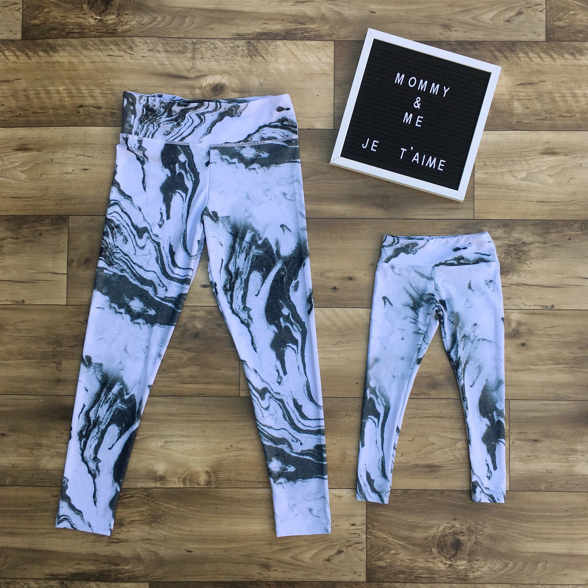 Marble leggings for mommy and me
