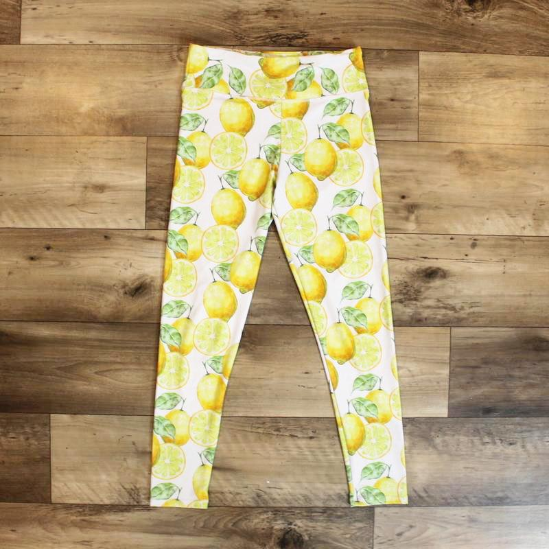 leggings lemon - yoga pant - yoga outfit
