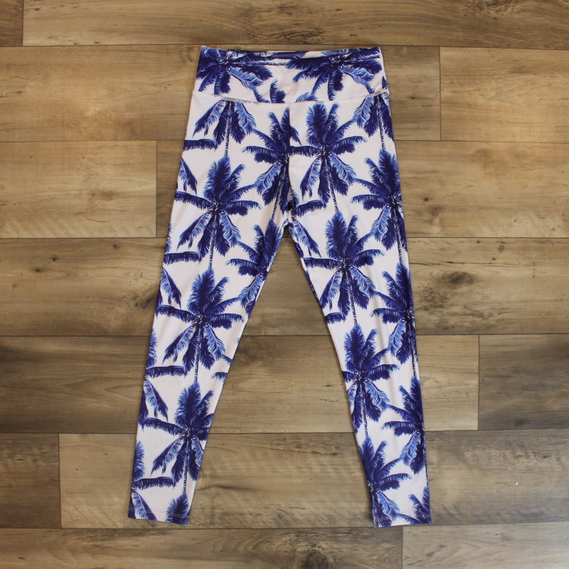 leggings couple - leggings palm - yoga pant - yoga outfit