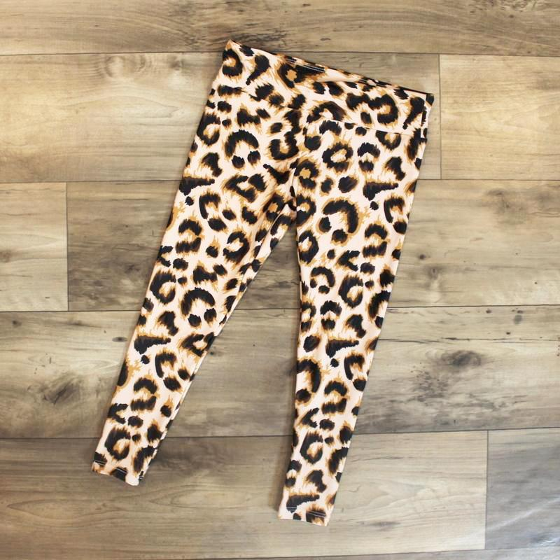 leggings leopard kids - yoga outfit - yoga pant - matching leggings