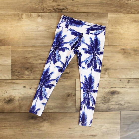 leggings palm for kids - yoga pant - yoga outfit