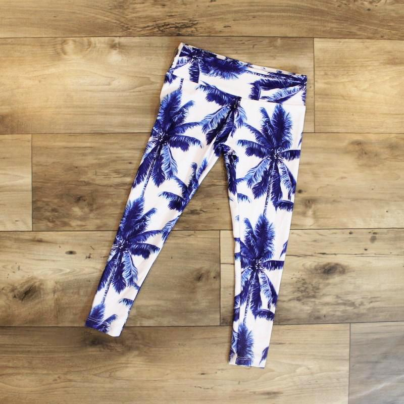 tropical leggings for girl