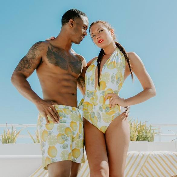 Lemon - Couple Swimsuits - women and men