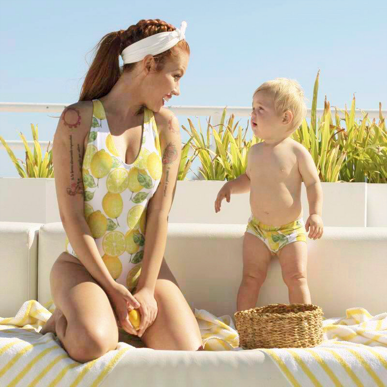 Lemon - Mommy and me swimsuits - mother and son