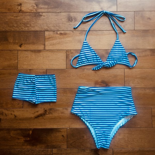 Stripes - Mommy and me swimsuits - mother and daughter