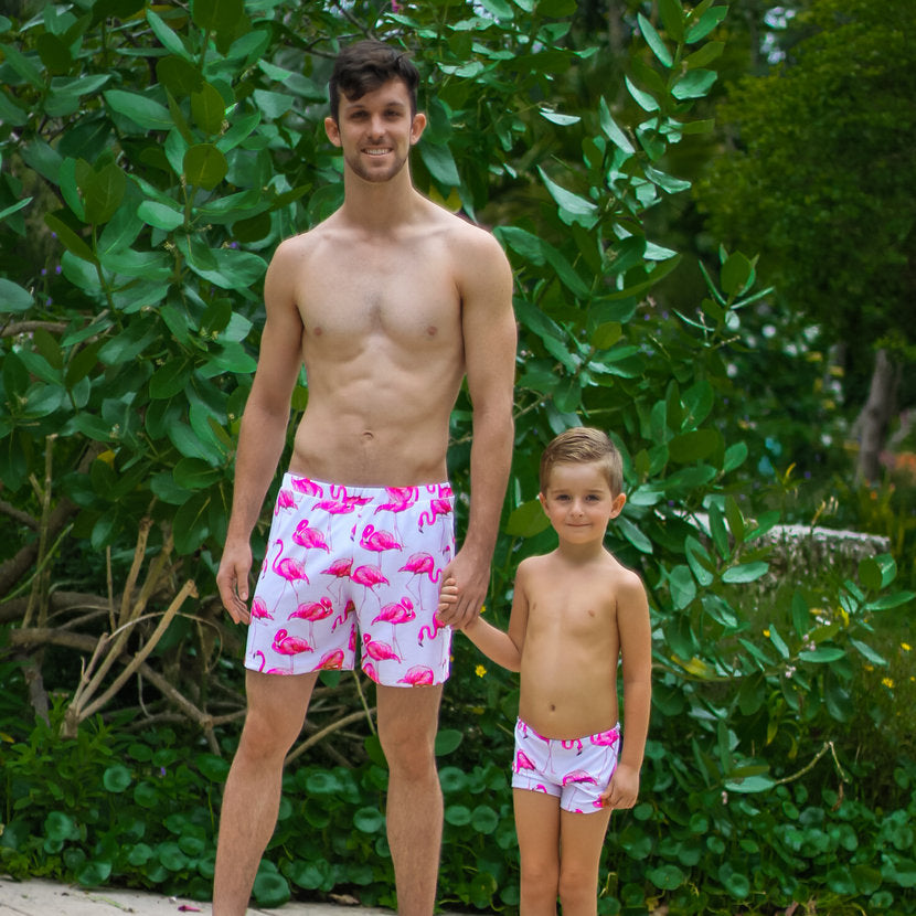 matching swimwear daddy and son