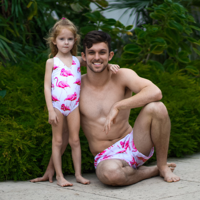 7f9b18f612 Marble - Daddy and me - dad and daughter matching swimsuits