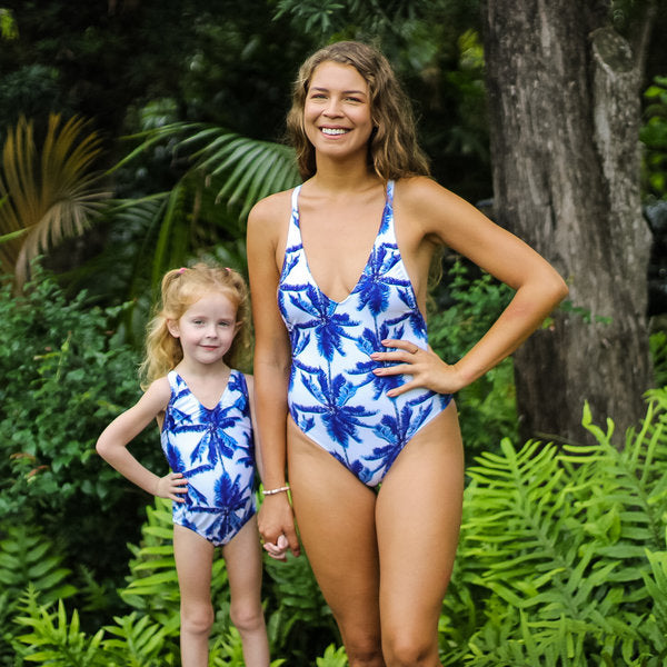 Palm - Mommy and me swimsuits - mother and daughter swimsuit