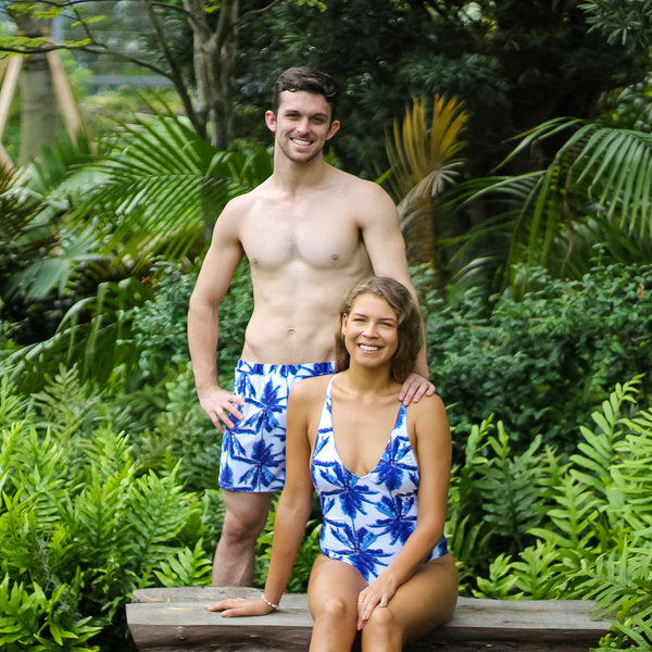 matching swimsuit for couple - COUPLE SWIMWEAR