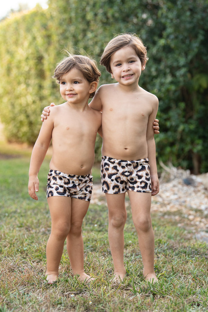 Matching swimsuit for mommy and son - matching outfit - matching swimwear - matching swimsuit - leopard