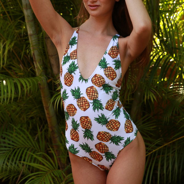 Pineapples - Woman swimsuits one piece- Paris