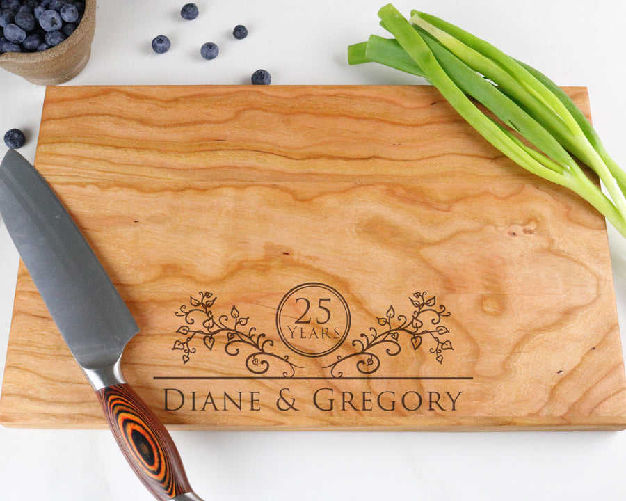 "Cherry Cutting Board with ""009"" Engraving - Muskoka Woodworking"