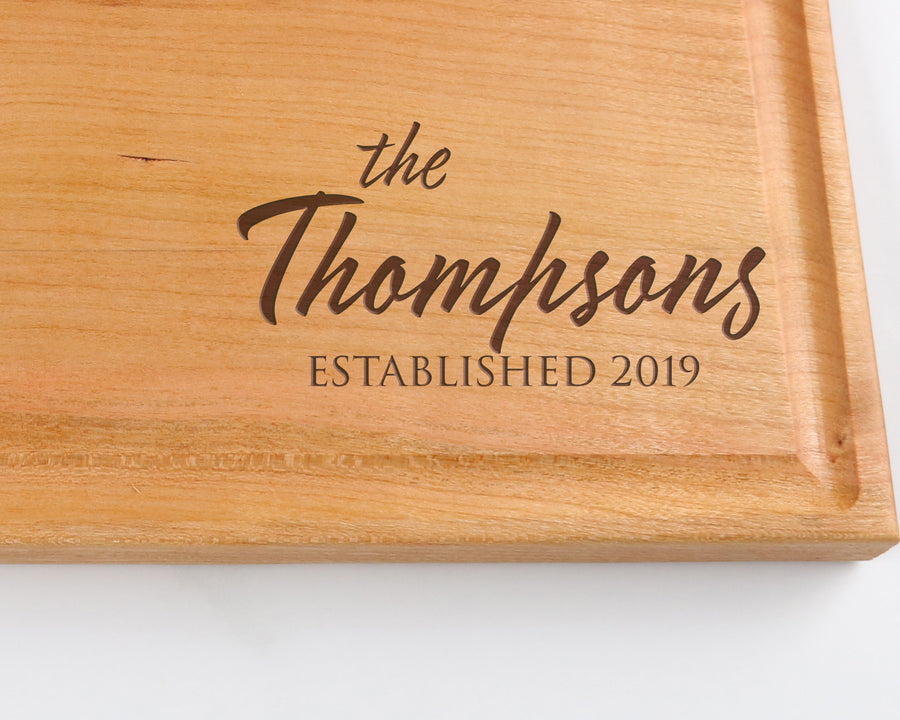 "Cherry Cutting Board with ""003"" Engraving - Muskoka Woodworking"