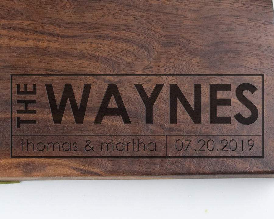 "Walnut Cutting Board with ""007"" Engraving - Muskoka Woodworking"