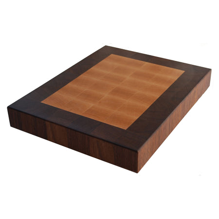 Maple with a Walnut Border End Grain Cutting Board - Muskoka Woodworking