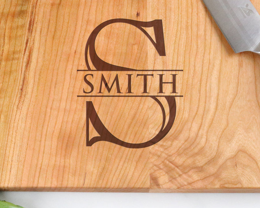"Cherry Cutting Board with ""008"" Engraving - Muskoka Woodworking"