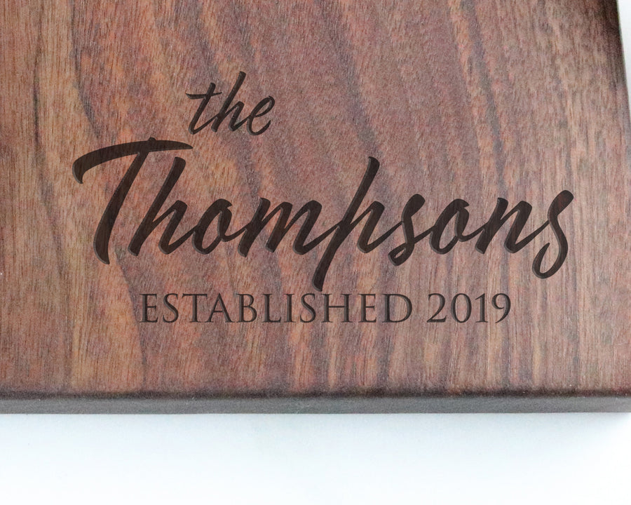 "Walnut Cutting Board with ""003"" Engraving - Muskoka Woodworking"