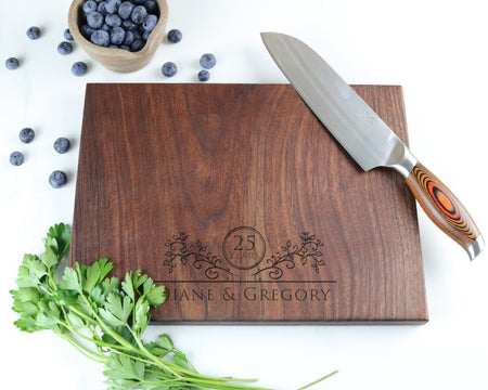 "Walnut Cutting Board with ""009"" Engraving - Muskoka Woodworking"