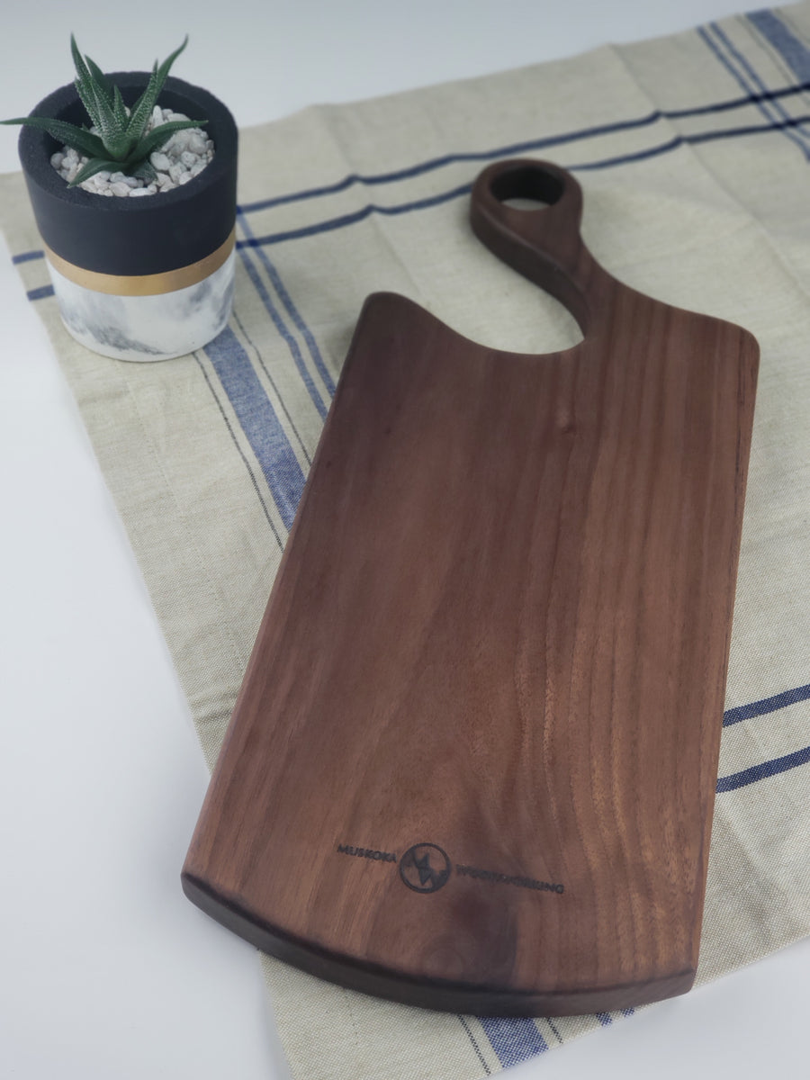 All Purpose Cheese Board - Walnut - Muskoka Woodworking