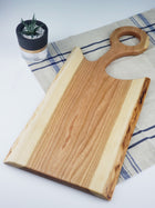 Live Edge Loop Handle Charcuterie Board - Cherry - Muskoka Woodworking