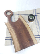 Live Edge Loop Handle Charcuterie Board - Walnut - Muskoka Woodworking