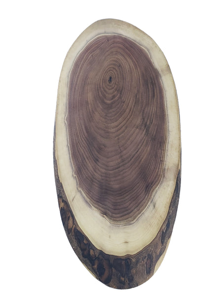 Live Edge Oval Charcuterie Slice - Walnut - Muskoka Woodworking