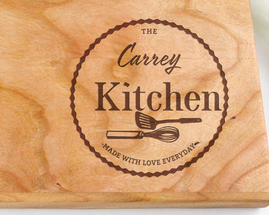 "Cherry Cutting Board with ""013"" Engraving - Muskoka Woodworking"