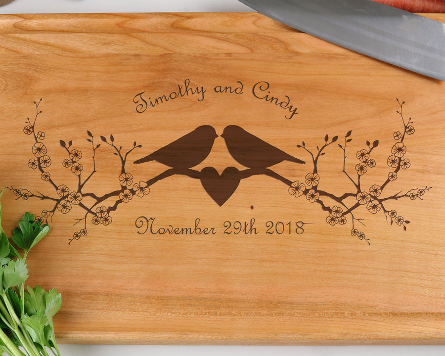 "Cherry Cutting Board with ""012"" Engraving - Muskoka Woodworking"
