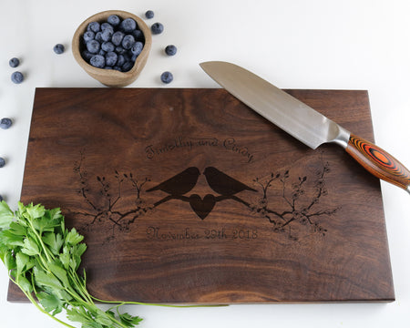 "Walnut Cutting Board with ""012"" Engraving - Muskoka Woodworking"