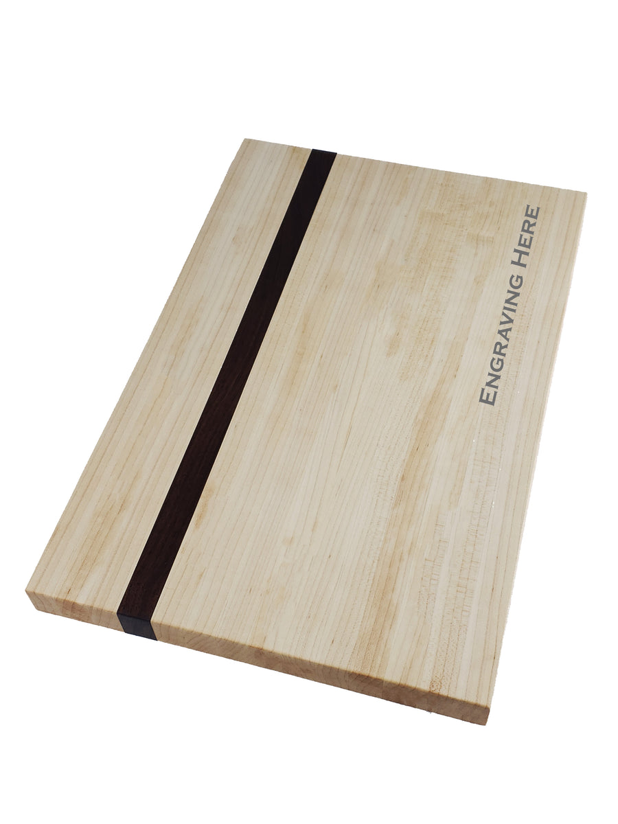 Maple with Walnut Accent Cutting Board - Muskoka Woodworking