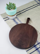 Round Paddle Cheese Board - Walnut - Muskoka Woodworking